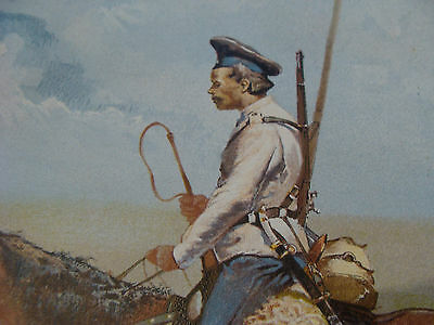 vintage print from 1894: A RUSSIAN COSSACK by FREDERIC REMINGTON 4