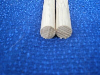 Oak wooden dowel rod 6,7,8,9,12,12.7,15,18mm  diameters x 300mm wood doweling