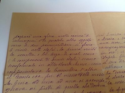 1886 --Meia cara Nicoletta (4 Page signed letter w/Envelope, Napoli, Cento Baci 11