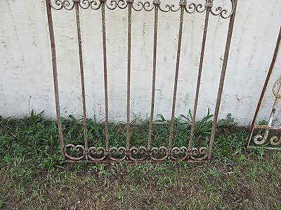 Antique Victorian Iron Gate Window Garden Fence Architectural Salvage Door #52 3
