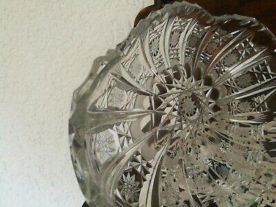 Bleikristall Schale,aussergewöhnlich und selten,geschliffen,klar,wie Neu