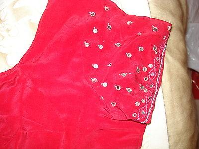 Ladies/girls Crepe Bandhini Saree With Sequence Work, Beading & Matching Blouse 12