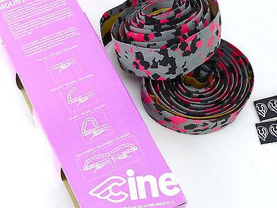 5a42001c8f8 ... Cinelli handlebar tape cork vintage grey black pink camouflage Bike NOS  5