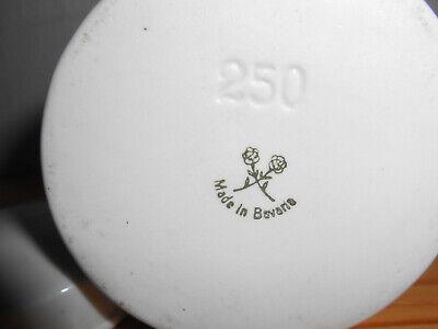 Salbendose, Porzellan mit Deckel,  60er Jahre  250 ml Apothekerdose ACID. SALIC 3
