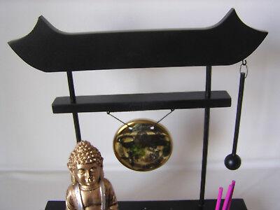 Teelichthalter Zen Garten Sand Buddha mit Lotosblume Figur Feng Shui Deko