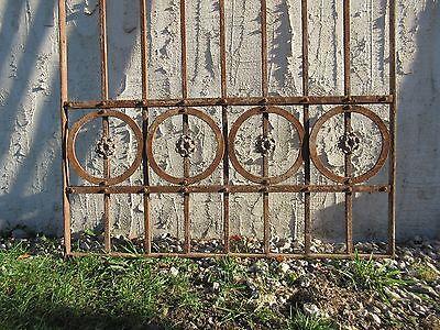 Antique Victorian Iron Gate Window Garden Fence Architectural Salvage Door #77 4
