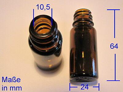 50 x Apothekerflasche 10 ml. Braunglas mit Verschluss mit Dichteinlage 2