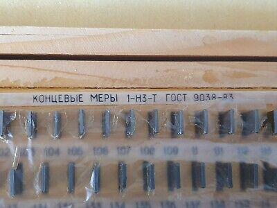 Precision Metric Gauge Block (112 pcs) Class 1 Top Grade ! Endmass Satz USSR! 3