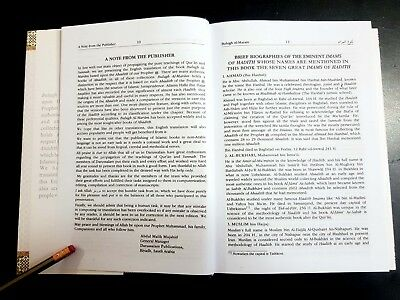 ISLAMIC BOOK (BULUGH AL-MARAM) PROPHET HADITH P in 2002. English Arabic 4