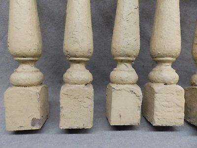 1 Antique Turned Wood Spindle Porch Baluster Thick Old Vtg Architectural 525-17R 10