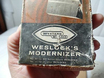 Vintage Western Weslock Modernizer Door Hardware New Old Stock 4