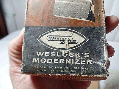 Vintage Western Weslock Modernizer Door Hardware New Old Stock