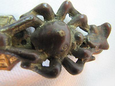 Antique Bronze Spider Catching Fly Spider Web Door Knocker unique rare design 6