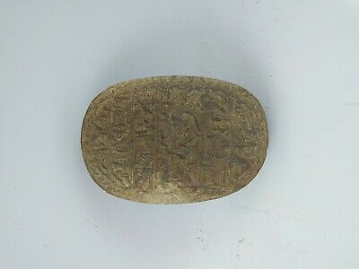 ANCIENT EGYPTIAN ANTIQUE SCARAB Carved White Carved Stone 1456-1256 BC 5