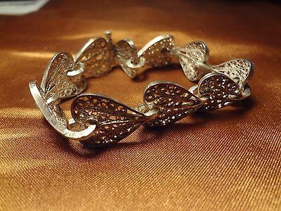 Ottoman Greek Silver Hand Made Filigree Bracelet 2
