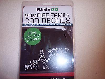 GAMAGO Vampire Family Car Decals