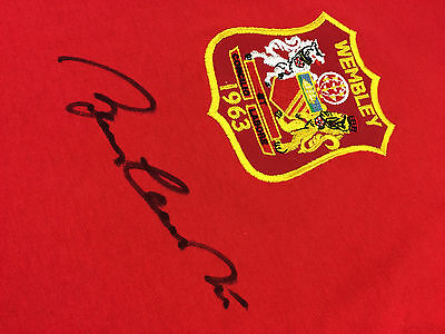 Bobby CHARLTON Signed Manchester United SHIRT & COA AFTAL England LEGEND RARE 2
