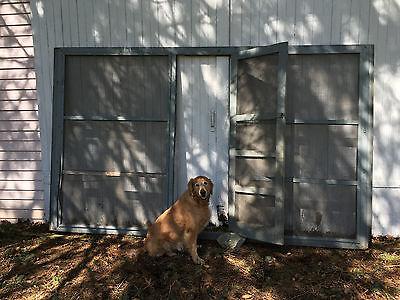 Antique Large Screened Barn Door Over 11' Wide Room Divider Art / Craft Display 8