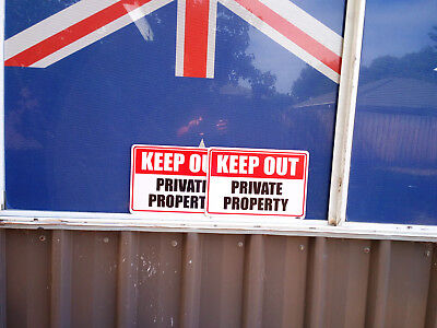 Keep Out Private Property Metal Safety Sign 600x450mm Fast Delivery 3