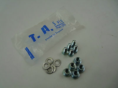 "and Washers Ref 25 Bolts /""Single/"" Chainring Nuts Vintage TA NOS"