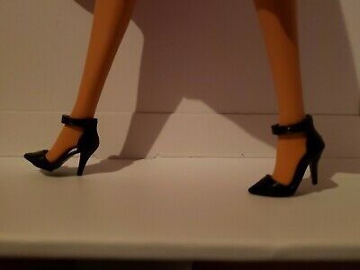 SHOES ~ COLLECTOR CURVY BARBIE DOLL ELLA FITZGERALD PLUM POINT TOE SLIDE PUMPS