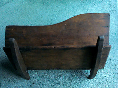 Vintage Early American Cherry Pine Baby Doll Cradle Bassinet Rocker. 5