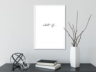 Motivational inspirational quote Poster Print Picture Wall Art What if 5