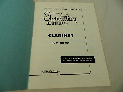 Rubank Elementary Method Clarinet Learn to Play Clarinet Vintage Library No 34 5
