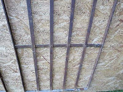 2 Antique Victorian Iron Gate Window Garden Fence Architectural Salvage Door 000 6