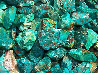 1000 Carat Lots of  Chrysocolla & Turquoise Rough - Plus a FREE Faceted Gemstone 4