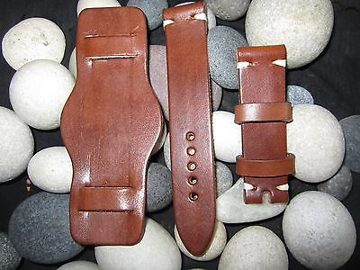 18mm-20mm-22mm Correa Reloj cuero BUND Pulsera Leather Watch Band Strap 3
