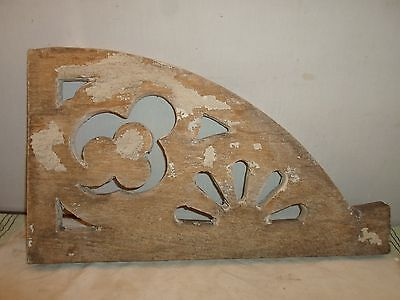 antique wood bracket, architectural detail  10 by 18 by  3/4 inches 2