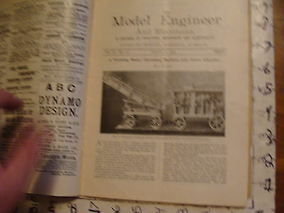 The Model Engineer and Electrician: AUG. 27, 1903 issue; SCARCE