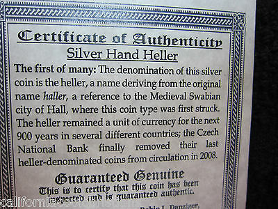 """1- The Right Hand of God Medieval German """"Hand Heller"""" Silver Coin  Rare Version"""