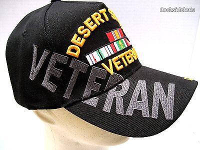 3cf996988752ae ... DESERT STORM VETERAN Cap   Hat w Shadow Black New U.S. Military  Free