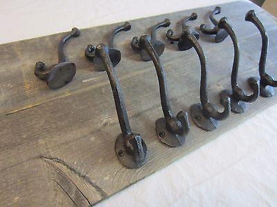 12 Cast Iron Black School Style Coat Hooks Hat Hook Rack Hall Tree Acorn Hook 2