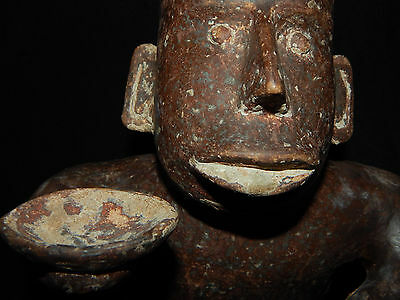 Pre-Columbian Jalisco Effigy Seated Figure, Authentic, Excellent Condition 10