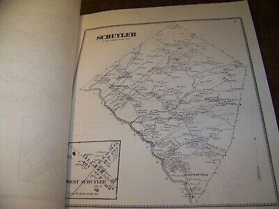 1868 Herkimer County Ny Atlas Map Fw Beers Little Falls Warren Ohio 1977 Reprint 5