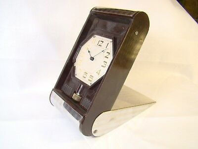 Antique Rare Waltham Crescent St Lever Set Bakelite 21 Jewel Watch Clock Working 7