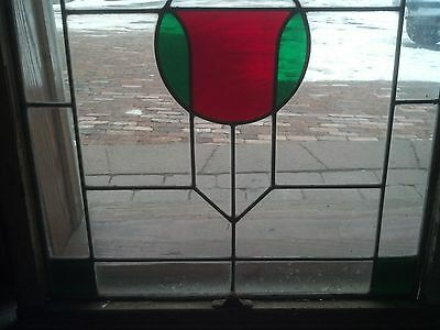 2 available stained glass arts and crafts windows   (SG 1601) 3