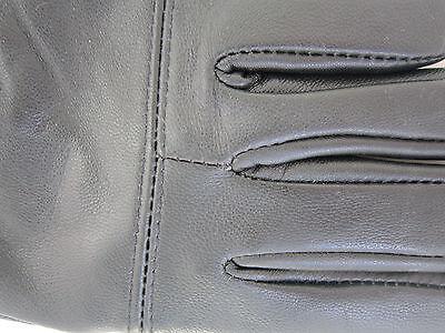 Childrens Boys Girls Black Genuine Leather Gloves Winter Lined Good Quality 3 • EUR 5,46