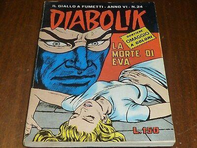 Diabolik Anno Vi Numero 24 Con Adesivi Astorina 1967 Originale - Ottimo !! 11
