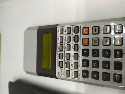 VERY RARE 1977 Vintage CASIO fx-1000 Yellow LCD Scientific Calculator w/ manual 4