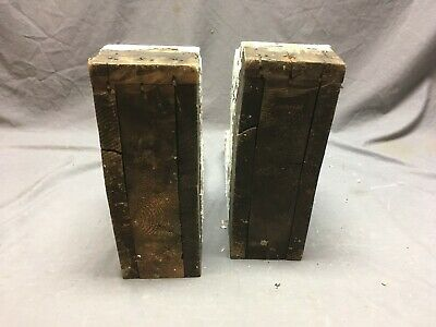 Antique Pair Wood Corbels Gingerbread Shabby Old Cottage Chic Vtg 1230-16 12