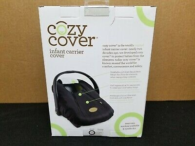 Cozy Cover Infant Carrier Cover - Secure Baby Car Seat Cover - Black 3