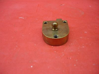 Vintage Antique Original Concealed Release Trigger Brass Latch Hardware 5