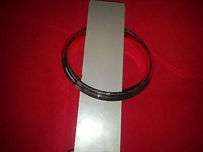 Pure Brass 22 Ct GOLD Look Lines Chunky Sikh Singh Khalsa Kara Bracelet Gift Z8