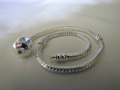 20cm 925 SILVER STAMPED BEAUTIFUL SNAKE CHAINS  EUROPEAN STYLE CHARM BRACELETS 2