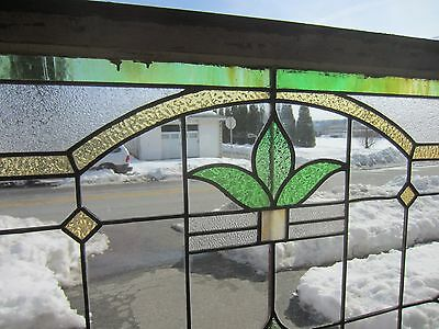 ~ Antique American Stained Glass Window Arts & Crafts ~ Architectural Salvage ~ 5