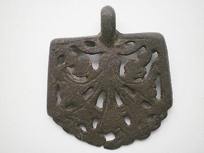 RARE ANCIENT Bronze Belt Decoration Belt End Viking Kievan Rus  10 - 12 cen AD 6
